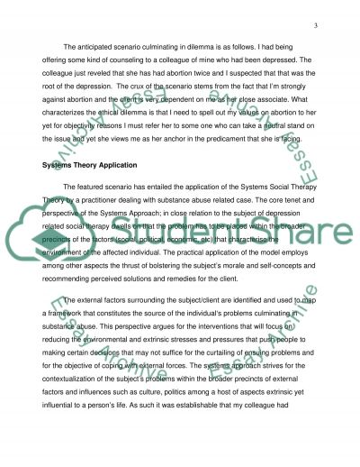 Case Study Ethical Practice Paper essay example
