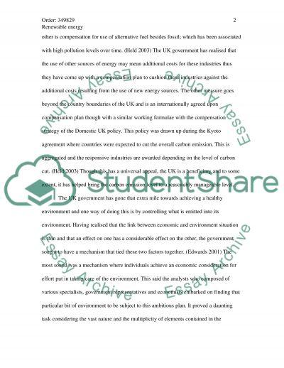 Renewable Energy Master Essay essay example