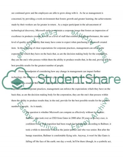 Microsoft Research Proposal essay example