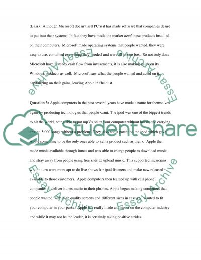 Microsoft Apple Case Essay example