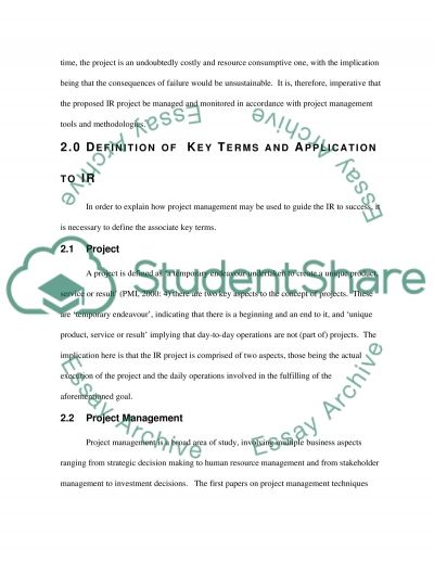 Managing Project Research Paper essay example