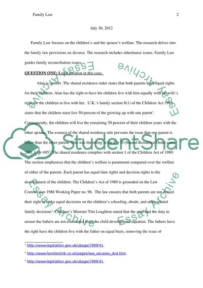 The Yellow Wallpaper Essay Family Law Read Textpreview Sample Apa Essay Paper also Business Argumentative Essay Topics Family Law Essay Example  Topics And Well Written Essays   Words Essay Proposal Template