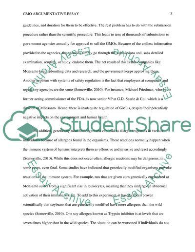 gmo argumentative essay outline