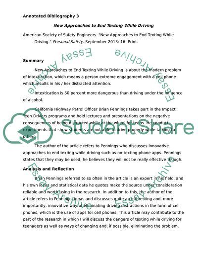 Annotated Bibiliography 3