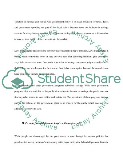 financial planning essay