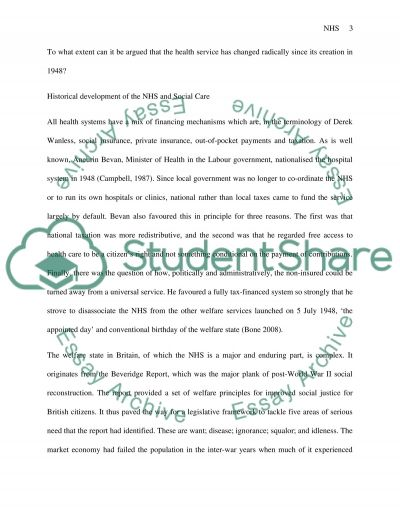 National Health Service Essay