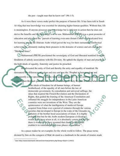 Muhammad essay example