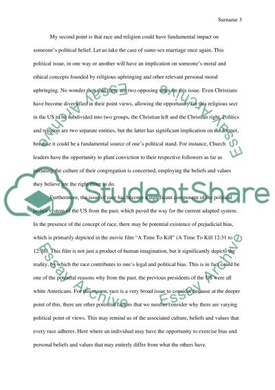 Race and religious essay outline