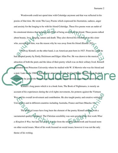 Life After High School Essay Compare And Contrast Two Poets William Wordsworth And Galway Kinnell Thesis Statement Examples For Narrative Essays also Persuasive Essay Sample Paper Compare And Contrast Two Poets William Wordsworth And Galway  Is A Research Paper An Essay