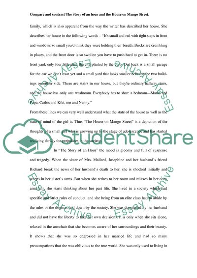 Compare And Contrast The Story Of An Hour And The House On Mango Essay Compare And Contrast The Story Of An Hour And The House On Mango Street   Essay Example Thesis For A Persuasive Essay also Do I Need A Business Plan To Buy An Existing Business  Custom Book Reports