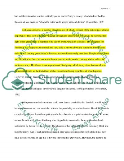 euthanasia summary essay This free health essay on essay: end of life, euthanasia and assisted suicide is perfect for health students to use as an example.