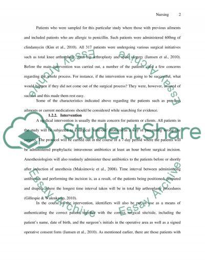 Nursing Research Paper essay example