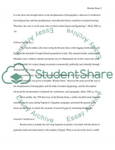 Rosetta Stone essay example