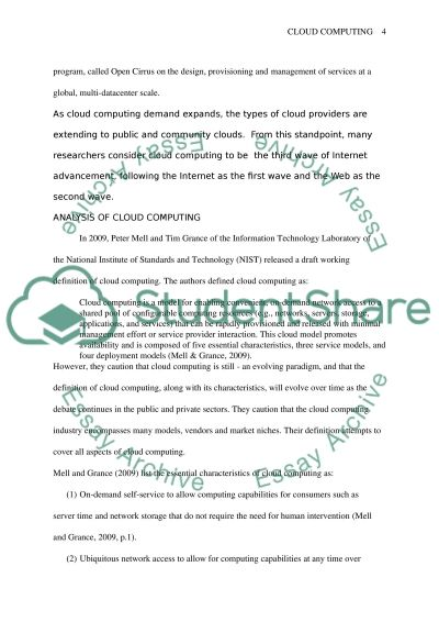cloud computing essay example topics and well written essays  cloud computing essay example text preview