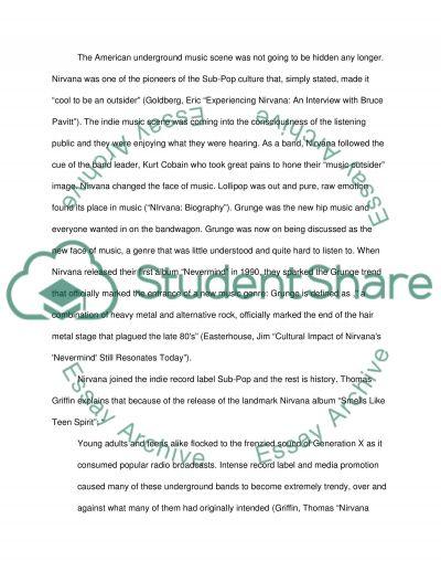 Nirvana essay example