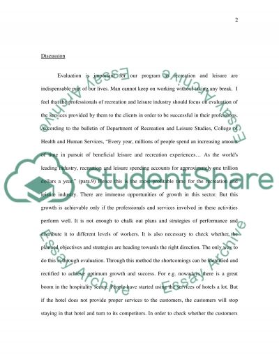 Reflection Paper Number two Advantages of Evaluation essay example