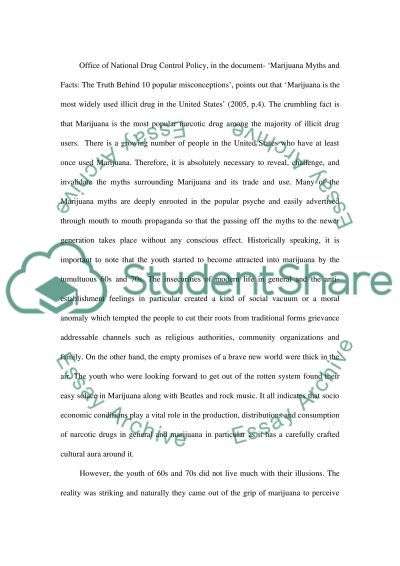 The Myths of Marijuana Essay example