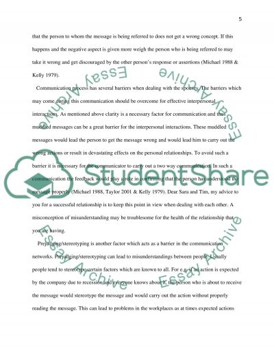 letter of advice com 200 interpersonal communication Final paper: letter of advice com 200 interpersonal communication march 5, 2012 final paper: letter of advice dear amy and smith, as you know, i am taking.
