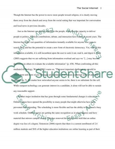 The Social Internet: Are We Shaping It or is It Shaping Us essay example
