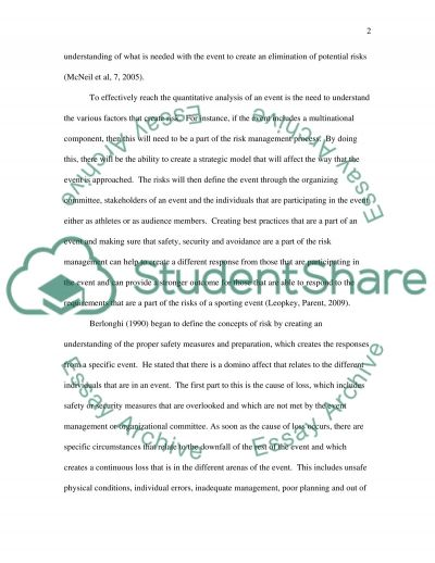 Event Risk Research Paper essay example