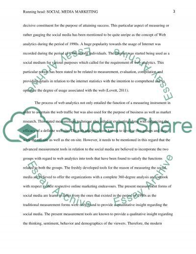 Social Media Marketing essay example