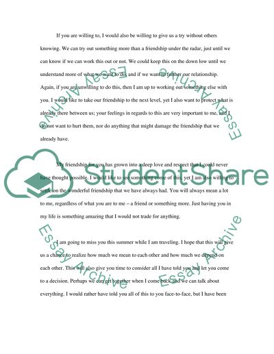 Sample Of Love Letter from studentshare.org