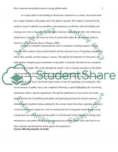 Global Media and Communication essay example