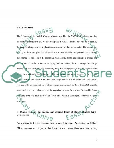 Managing Change Master Case Study essay example