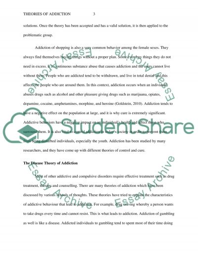 theories of addiction essay example topics and well written  theories of addiction essay example