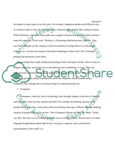 Technology Essay Example  Topics And Well Written Essays   Words Technology Short English Essays For Students also Compare And Contrast High School And College Essay  Modest Proposal Essay Examples