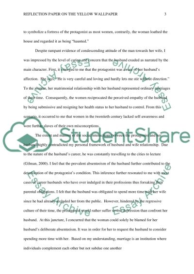 Easy Essay Topics For Kids Reflection Paper On The The Yellow Wallpaper Scholarship Essay Format Example also Cesar Chavez Essay Reflection Paper On The The Yellow Wallpaper Essay Essay Corrections