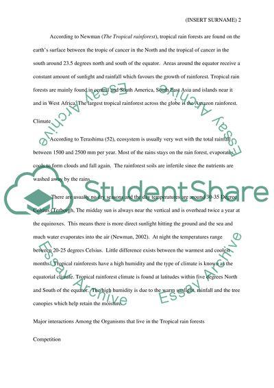 rainforest articles for 3rd grade