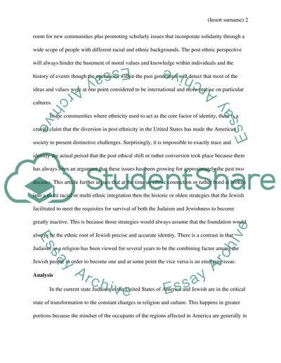 Jewish History Response Paper