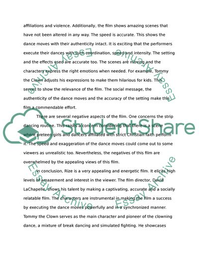 Essays Topics For High School Students Rizefilm Critique Conscience Essay also Essay On Health And Fitness Rizefilm Critique Essay Example  Topics And Well Written Essays  Example Of A Essay Paper