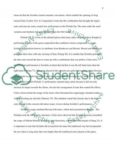 Alexander Scriabin Essay essay example