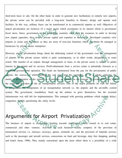Debate Over Airport Privatization