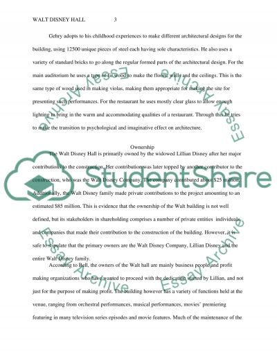 Walt Disney Hall essay example