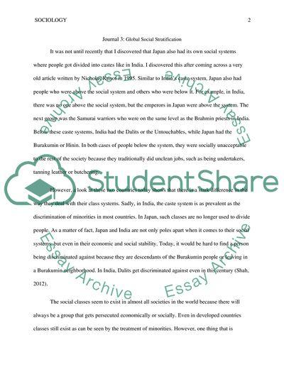 Social Stratification Journal 3
