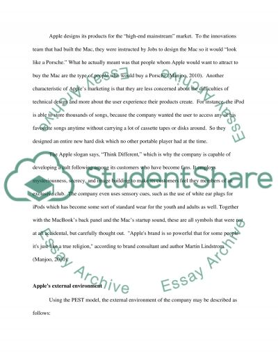 APPLE, INC Essay example