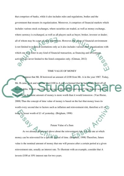 Finance Course Work essay example