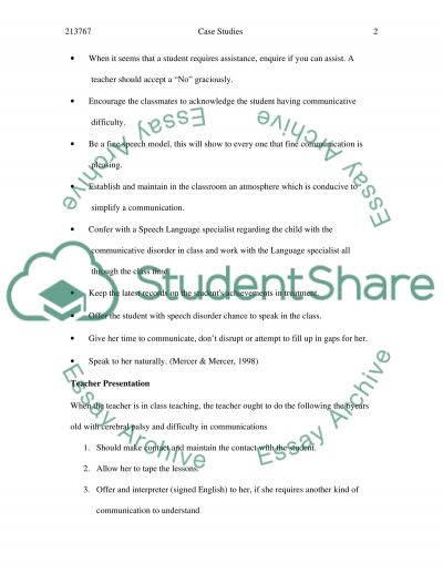 Teaching Students with Learning Difficulties essay example