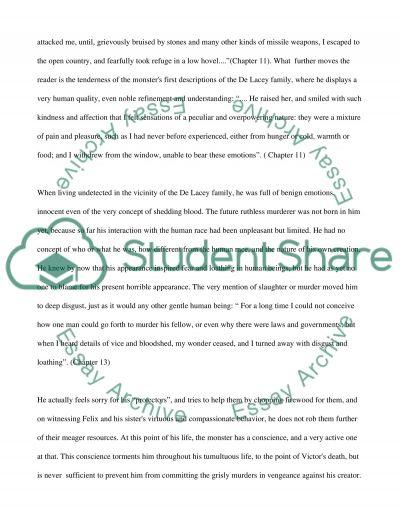 Frankenstein Essay essay example