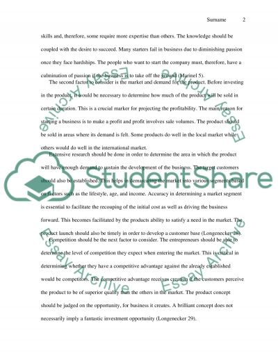 Business Start-Up from Scratch essay example