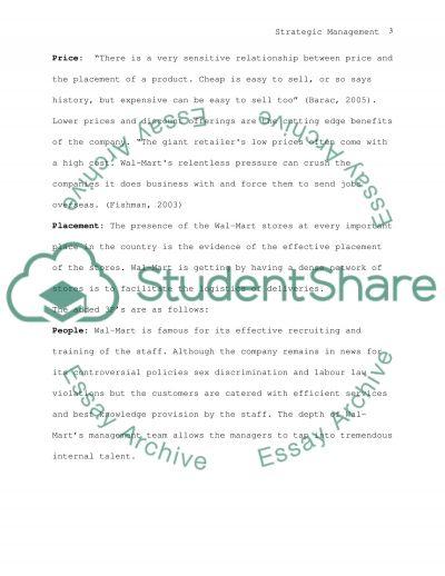 Strategic Management Degree Case Study essay example