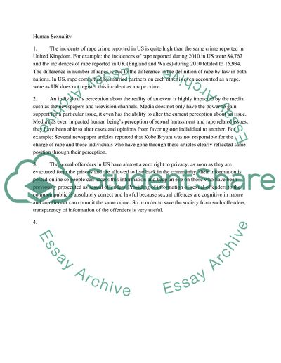 Human sexuality essay