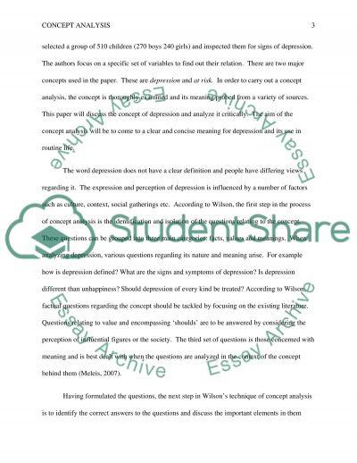 Concept analysis essay example