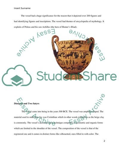 Visual analysis paper of greek pottery
