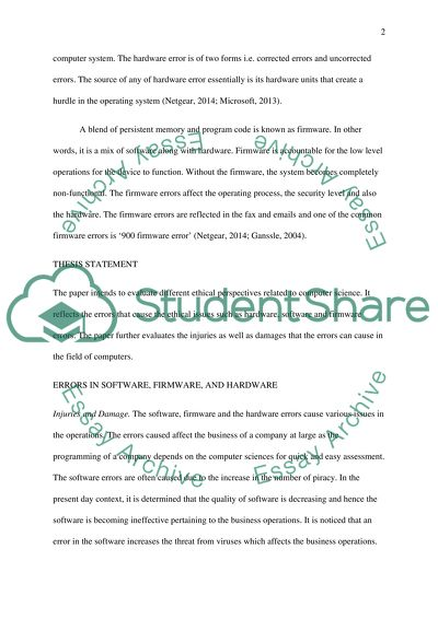 ethical analysis paper example