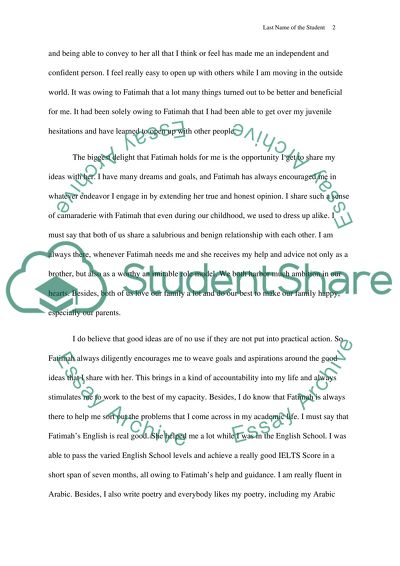 The best sister in the world Essay Example | Topics and Well