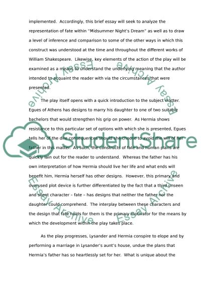 fate in a midsummer night s dream research paper fate in a midsummer nights dream essay example